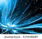 snowflakes and stars descending ... | Shutterstock . vector #515438689