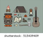 set of camping equipment... | Shutterstock .eps vector #515439409
