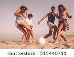 Beach Fun With Friends. Group...