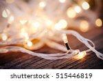 christmas garland lights from... | Shutterstock . vector #515446819