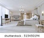 luxurious bedroom in white... | Shutterstock . vector #515450194
