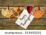 happy thanksgiving greeting... | Shutterstock . vector #515453251