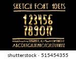vector illustration volumetric... | Shutterstock .eps vector #515454355