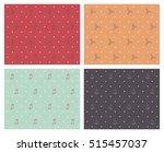 christmas background  ornaments ... | Shutterstock .eps vector #515457037