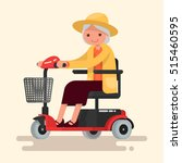 grandmother  an elderly woman... | Shutterstock .eps vector #515460595