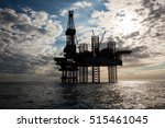 silhouette of offshore oil... | Shutterstock . vector #515461045