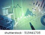 close up of finance business... | Shutterstock . vector #515461735