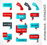 vector stickers  price tag ... | Shutterstock .eps vector #515462425