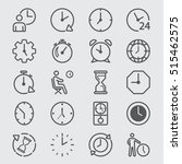 time and clock line icon | Shutterstock .eps vector #515462575