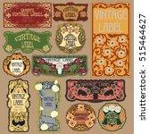 vector vintage items  label art ...   Shutterstock .eps vector #515464627