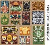 vector vintage items  label art ... | Shutterstock .eps vector #515464651