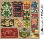 vector vintage items  label art ... | Shutterstock .eps vector #515464687