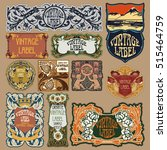 vector vintage items  label art ... | Shutterstock .eps vector #515464759