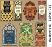 vector vintage items  label art ... | Shutterstock .eps vector #515464765