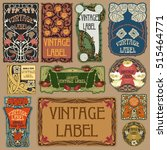 vector vintage items  label art ... | Shutterstock .eps vector #515464771
