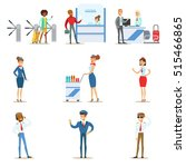 people in the airport interior... | Shutterstock .eps vector #515466865