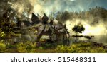 Stegosaurus In Swamp 3d...