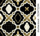 tiled geometric gold   black  ... | Shutterstock .eps vector #515472244