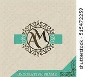 modern monogram  emblem  logo... | Shutterstock .eps vector #515472259