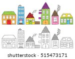 set of naive childish drawing... | Shutterstock . vector #515473171