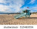 Lifeguard Hut On Santa Monica...
