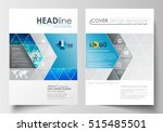 business templates for brochure ... | Shutterstock .eps vector #515485501