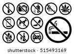 prohibition signs black set....