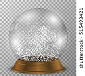 crystal snow globe isolated on... | Shutterstock .eps vector #515493421