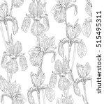 garden flowers seamless pattern ...   Shutterstock .eps vector #515495311