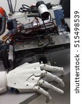 close up of robot hand on table ...   Shutterstock . vector #515498539