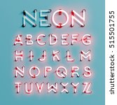 realistic neon character... | Shutterstock .eps vector #515501755