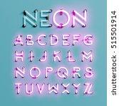 realistic neon character... | Shutterstock .eps vector #515501914