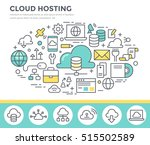cloud hosting technology ... | Shutterstock .eps vector #515502589