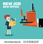 welcome to the new job vector... | Shutterstock .eps vector #515508205