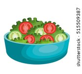 salad plate isolated icon | Shutterstock .eps vector #515509387
