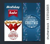 stylized christmas invitation ... | Shutterstock .eps vector #515510005