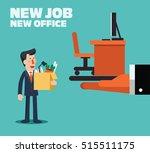 welcome to the new job vector... | Shutterstock .eps vector #515511175