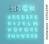 realistic neon character... | Shutterstock .eps vector #515512549