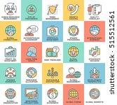 icons set global business ... | Shutterstock .eps vector #515512561