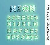 realistic neon character... | Shutterstock .eps vector #515512639