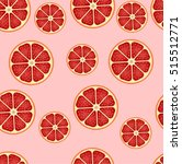 grapefruit seamless background. ... | Shutterstock .eps vector #515512771