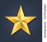 Golden Christmas Star Vector...