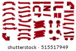 set of beautiful festive... | Shutterstock .eps vector #515517949