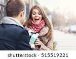 picture showing young couple... | Shutterstock . vector #515519221