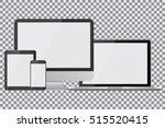 set of realistic computer... | Shutterstock .eps vector #515520415