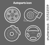 auto parts icons sketch ...   Shutterstock .eps vector #515523559