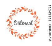 oatmeal cookie logo design. | Shutterstock .eps vector #515524711