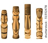 Four Different Wooden Hawaii...