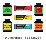 sports nutrition  supplements ... | Shutterstock .eps vector #515526289