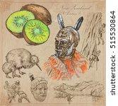 travel new zealand. pictures of ... | Shutterstock .eps vector #515530864
